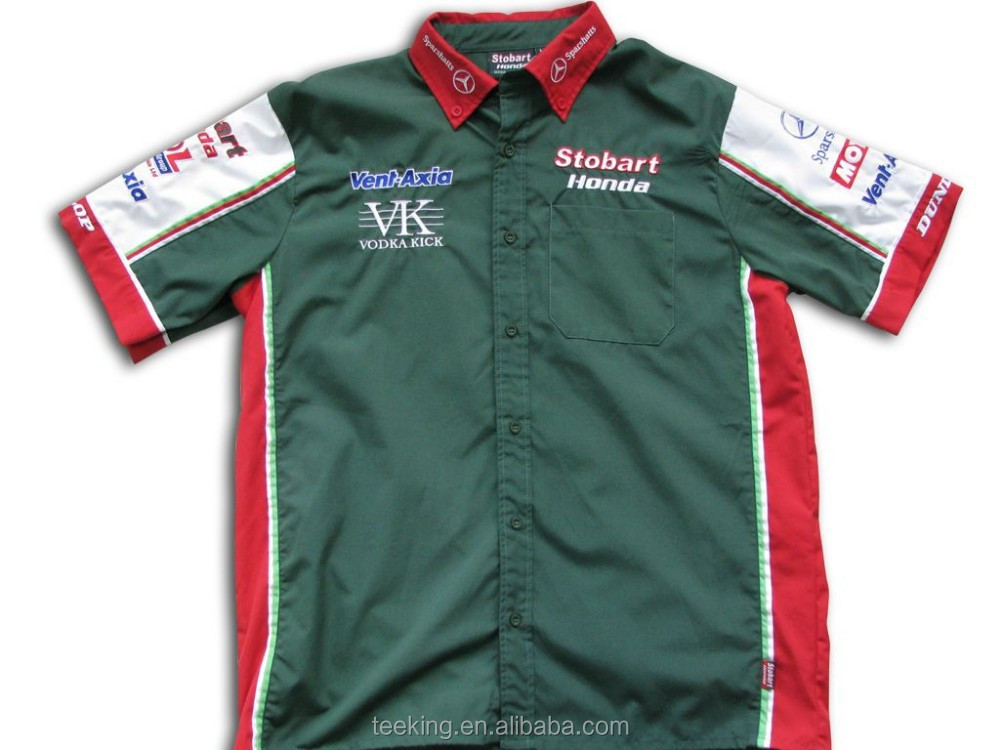 Custom embroidered/printed motorcycle racing shirts