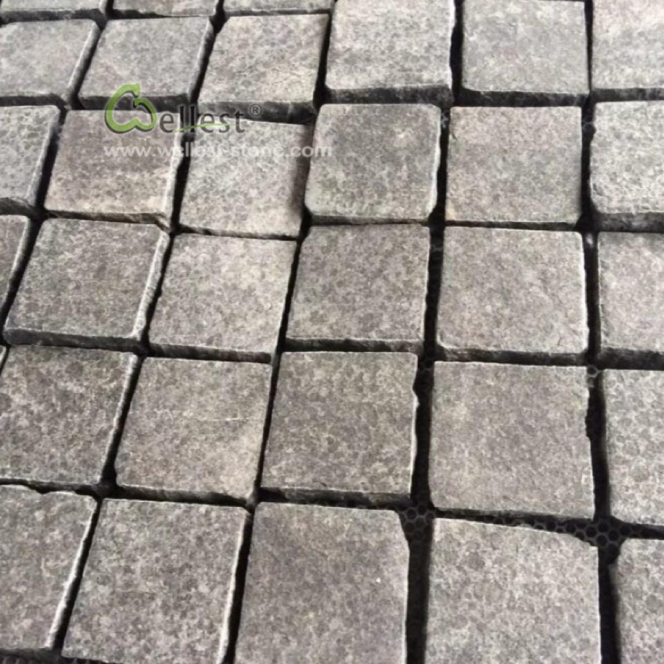 Interlocking Natural Stone Mesh Tiles