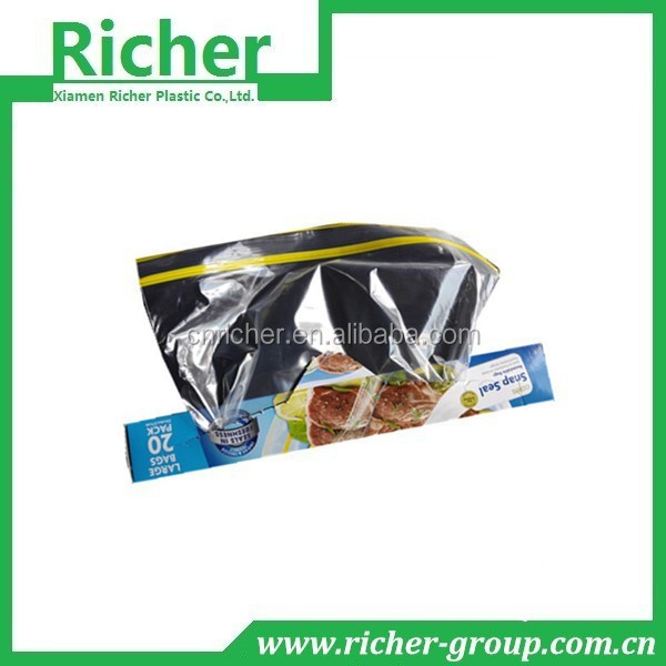 custom printing zippered clear plastic poly bags bread