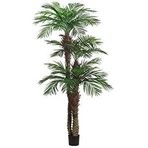 9' Areca Triple Trunk Silk Palm Tree w/Pot -Green (pack of 2)