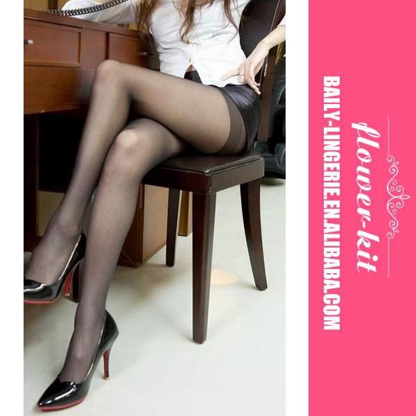 9d5fba94f78f9 Sexy Cuban Heel Designed Black Thigh High Stocking - Buy Sexy ...