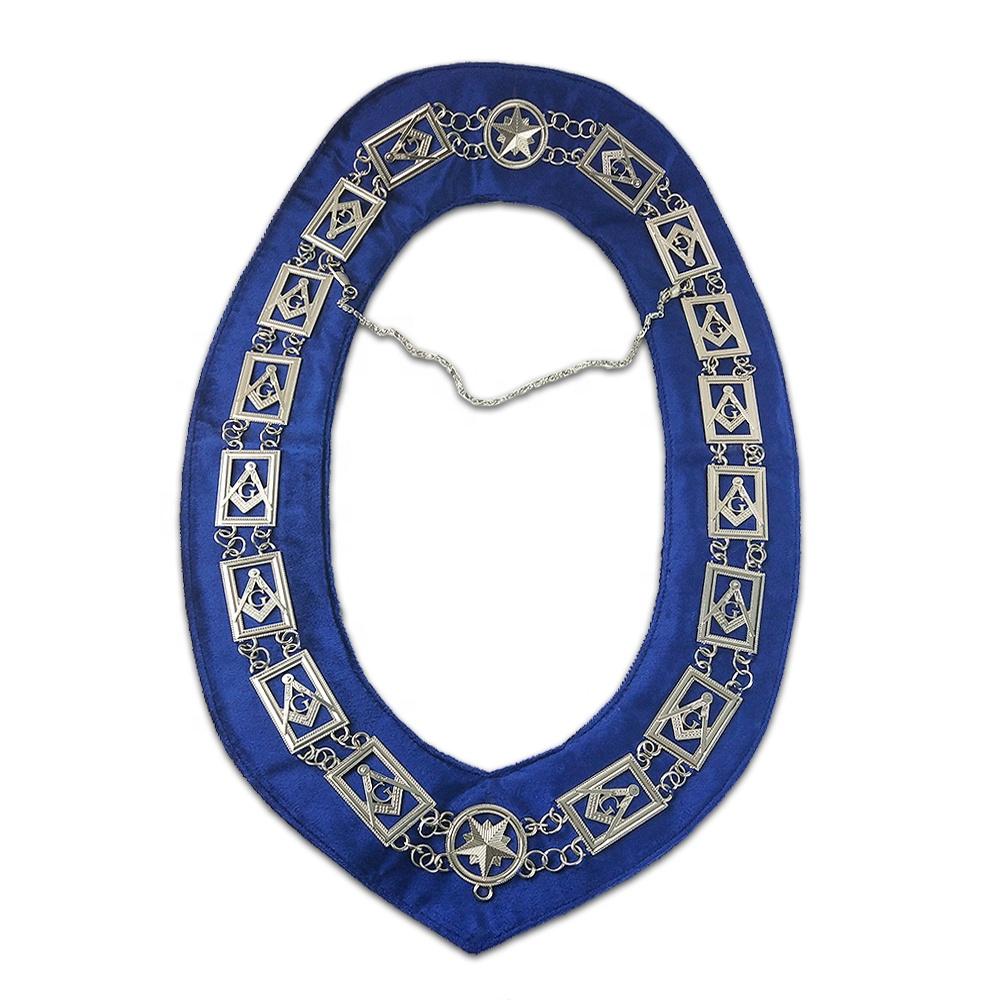 Masonic Items Freemason Officer Lodge Blue Silver Chain Masonic Chain  Collar For Masonic Members - Buy Masonic Items,Masonic Chain Collar,Masonic