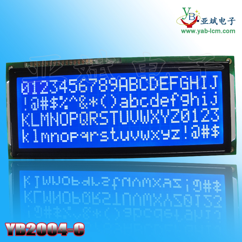 STN Negative Blue 20 x 4 Character LCD Module