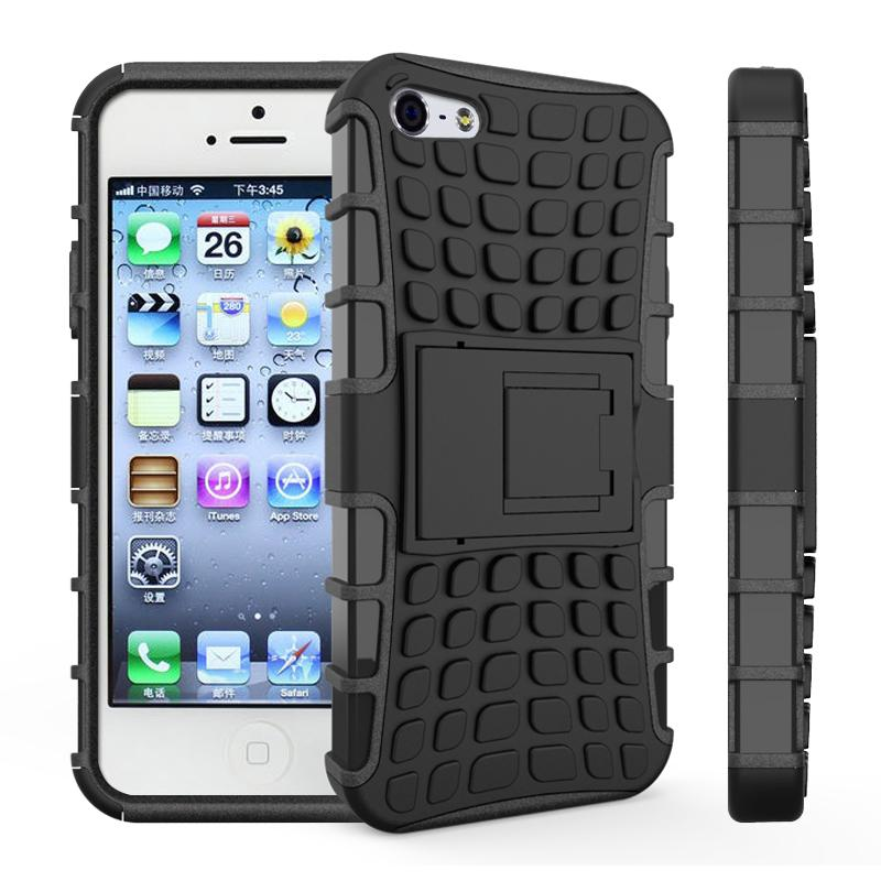 buy popular 194ea 59ed8 sFor Cover iPhone 5s Case Heavy Duty Armor Shockproof Hard Soft Silicon  Rubber Case For iPhone 5s Case For iphone 5S SE HATOLY <