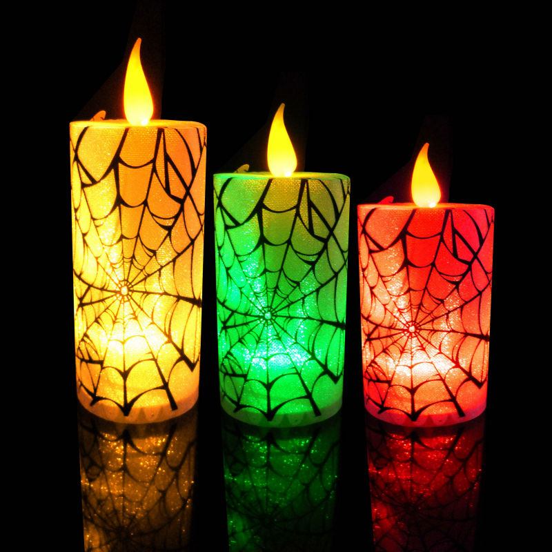 Flameless Electric Halloween Candles/halloween Lights Candle/free ...