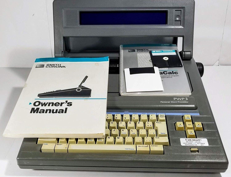 Smith Corona Vintage PWP3 Word Processor Electric Typewriter with Original  Manual PWP3 Word Processor Electric Typewriter