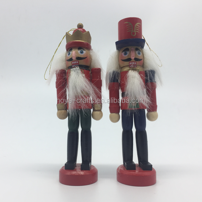 6pcs Nutcracker Creative Desktop Decoration Wooden doll for party decoration