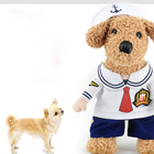 Pet Sailor Suit Transfiguration Upright Cat Dog Clothes Two Footwear