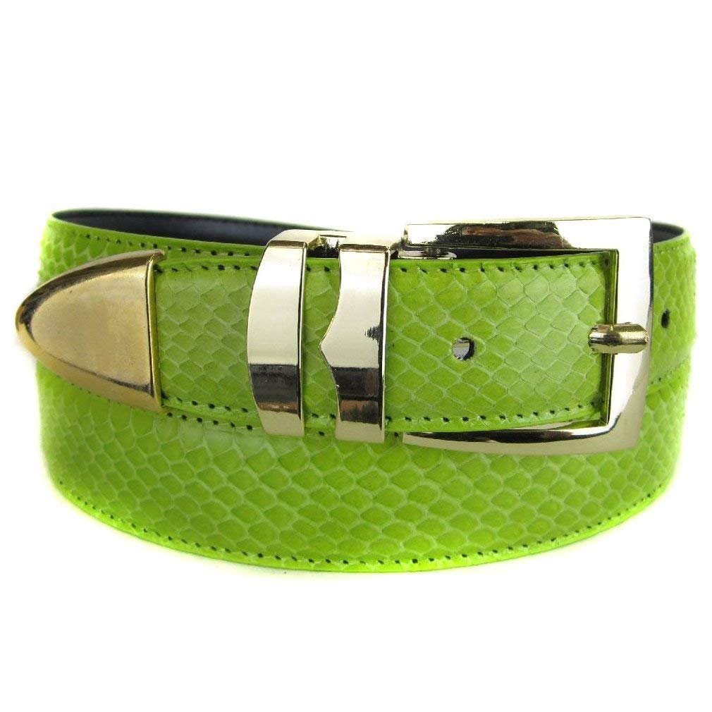 Chocolate Bonded Snake Skin High Quality Fashion Dress Belt