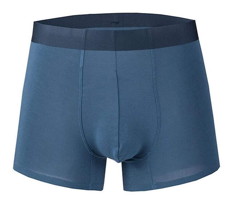 76c1f8d933ab Get Quotations · BYWX Men Seamless Short Legs Comfort Modal Waistband  Underwear Boxer Briefs