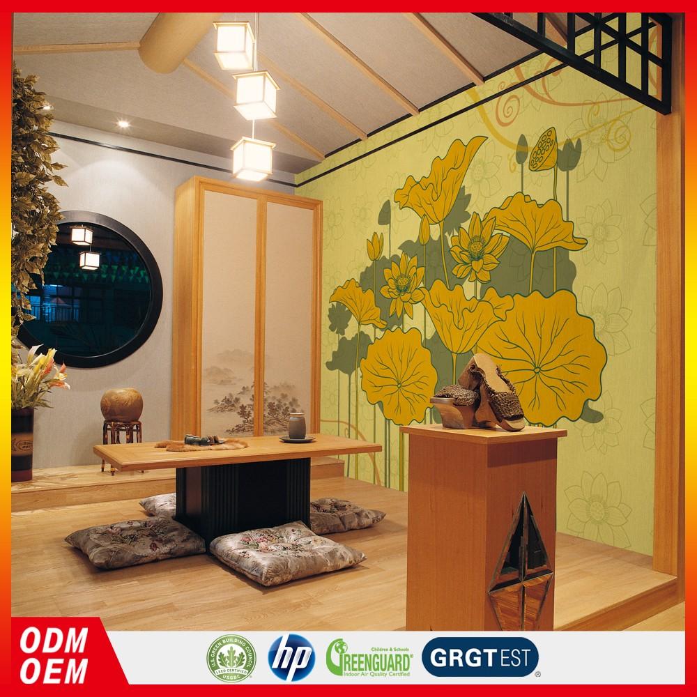 Hot Sale Lotus Design Wallpapers Wall Art Flower Mural Custom - Buy ...