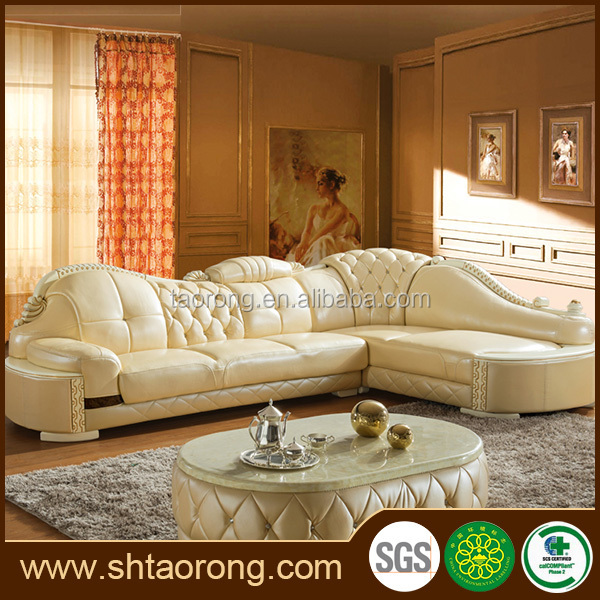 Modern Royal French Style Furniture Leather Sofa Set