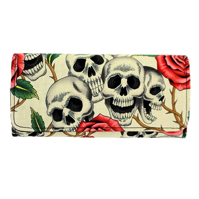 b762bbef0835 Buy US Handmade Fashion Skulls Rose Tattoo Day Of The Dead ...