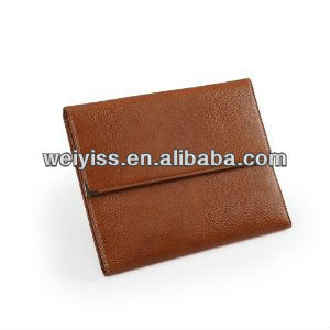 Leather Trifold Conference Folder W/ Pocket To Hold For Ipa For ...