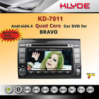 andriod4.4 Rockchip Rockchip 3188 Cortex A9, 4-core car dvd player with gps navigation mirror link review camera for Fiat bravo