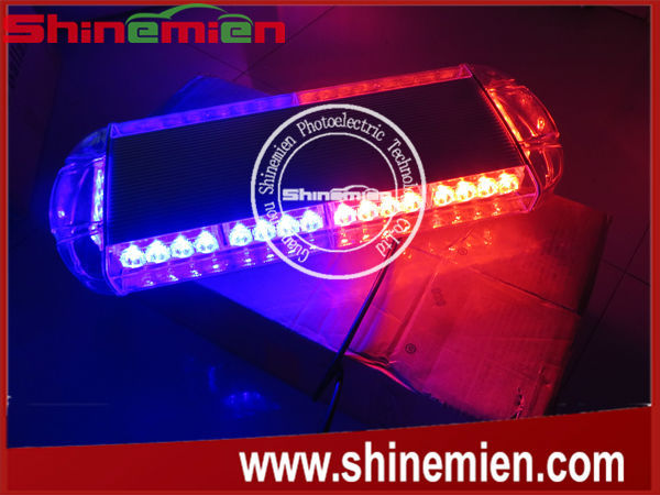 Red blue emergency hazard warning 40 leds mini bar strobe flash red blue emergency hazard warning 40 leds mini bar strobe flash light w magnetic aloadofball Images