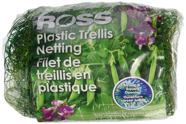 Ross Trellis Netting (Support for Climbing, Fruits, Vegetables and Flowers) Green Garden Netting, 5 feet x 100 feet