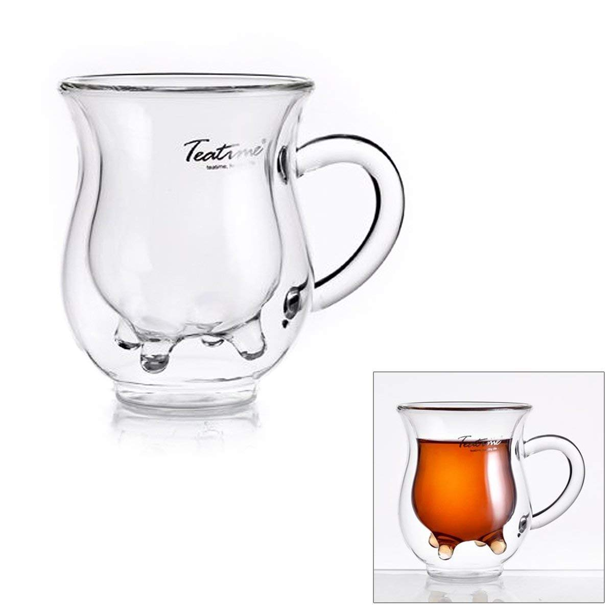 MyEasyShopping Creative Milk Teat Style Double Layer Milk Glass - Transparent (200ml)