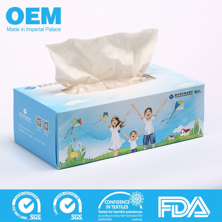 Custom printed facial tissue, emoji box facial tissue
