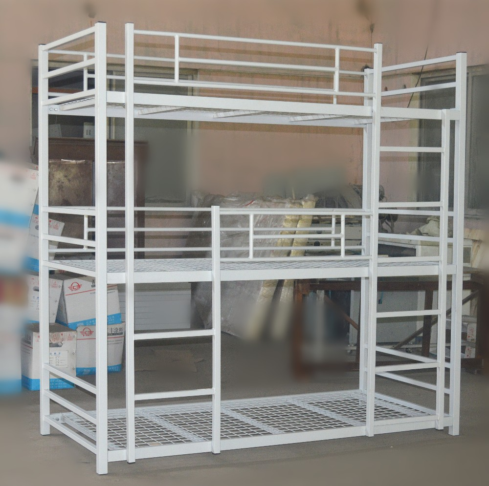 Metal kids adult cheap used triple bunk beds for hostels with wire mesh and mattress buy bunk - Balances hoogslaper ...