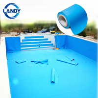 Reinforced pvc liner pool, blue pond liner pvc waterproof membrane of pool