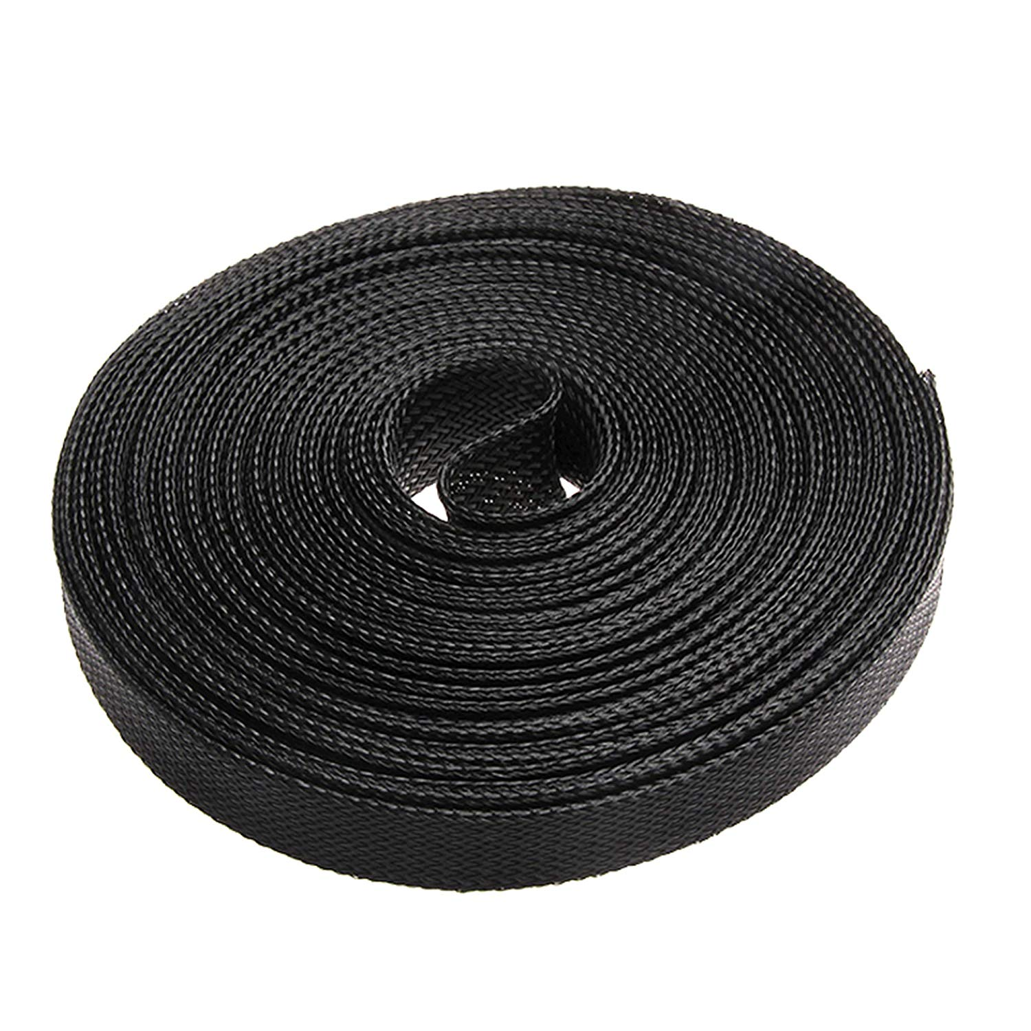 25FT-29/32Inch Nylon Expandable Braided Cable Sleeving,Braided Wire Sleeve,Cable Sheath Mesh Wire Loom
