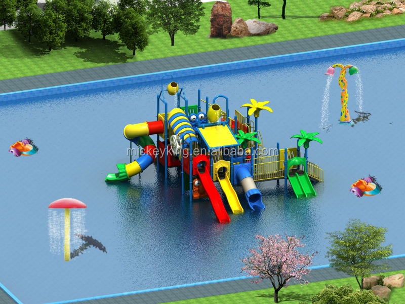 Outdoor Water Toys Product : Outdoor water play ground kids toys tube slides for pools