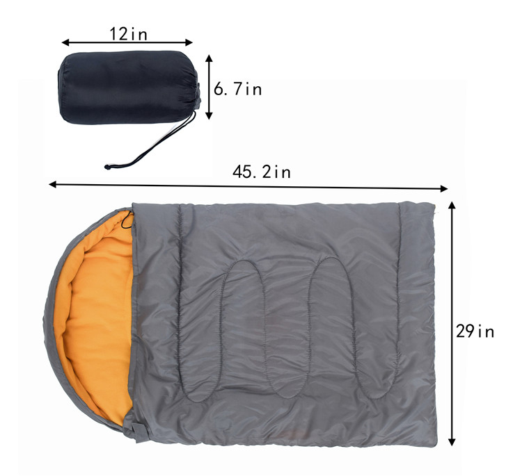 Lightweight Portable Waterproof Outdoor Pet Dog Sleeping Bag with Compression Sack for 4 Season Traveling, Camping, Hiking