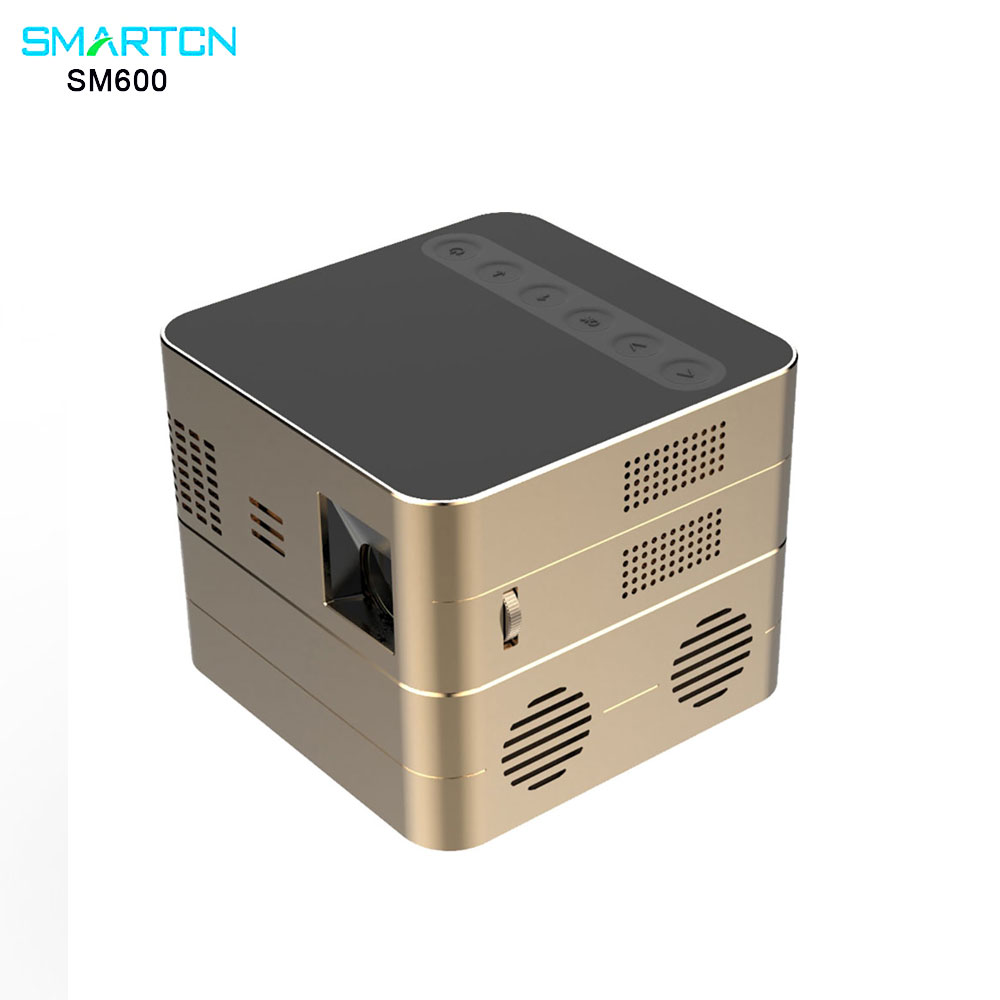 SM600 android5.0 High brightness 250ANSI lumens 1280 x 800 pixel with Hid portable ultra short throw projector