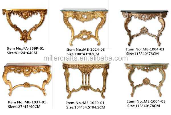Egyptian Reproduction Furniture Black And Gold Console For Living Room  Display