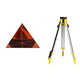 Optical K9 glass coated quartz crystal triangular prism for surveying instrument