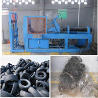 Waste Rubber Tyre Recycle Machine/Used Tyre Recycling Plant/CE Single Hook Debeader