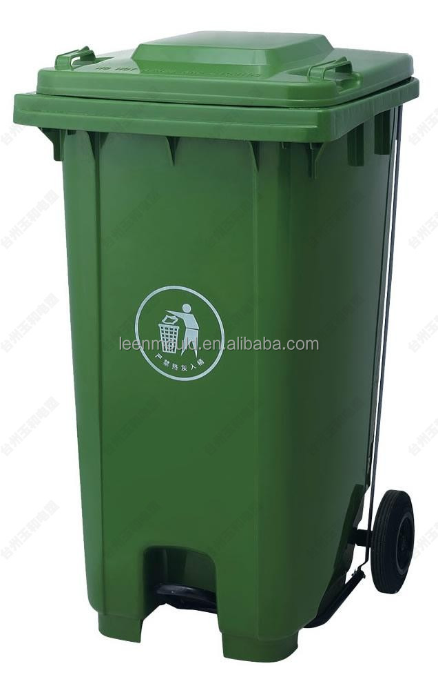 China New 240l Green Outdoor Pedaled Garbage Can With Wheels,240l ...