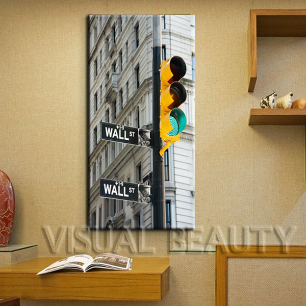Wall Art New York London Oil Painting On Canvas Abstract Cityscape ...