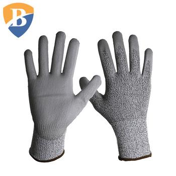En388 Anti Cut Pu Coated Esd Gloves Level 5 Buy Cut