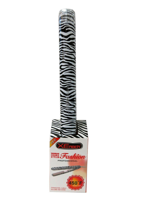 "XEnoch Professional Hair Iron Tourmaline Ceramic Styler 1"" Zebra"