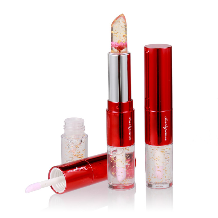 Kailijumei 2018 New Products 2 in 1 Color Changing pop Lip Stick with Flower Inside