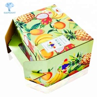 Fashion hot sale best price customized logo fruit corrugated carton paper box