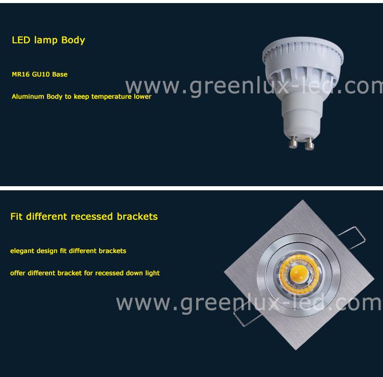 Gu10 Led Spotlights 5w Lens 30 Degree 60 Degree Beam Angle Pass Ce ...