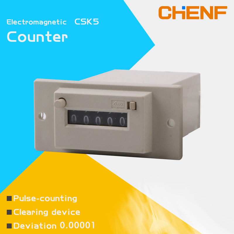 CSK5-YKW/NKW 5digit electromagnetic counter AC110V/AC24V impulse scaler