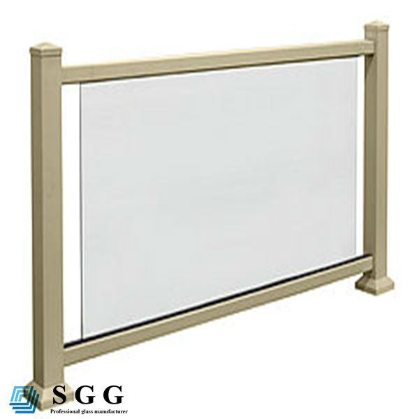 Excellent quality tempered glass deck railing panels