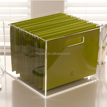 wholesale standard hanging files clear acrylic file storage box buy acrylic file box file. Black Bedroom Furniture Sets. Home Design Ideas