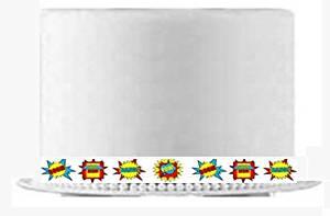 CakeSupplyShop Item#24516 Boy's Super Hero Theme Slim Edible Cake Decoration Ribbons -6Strips