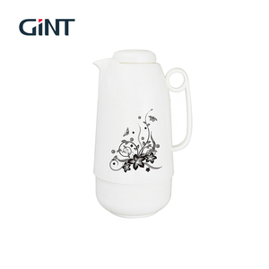Gint 1.3L white coffee vacuum flask with plastic cover