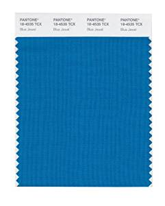 Pantone Smart 18 4535x Color Swatch Card Blue Jewel Model