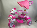 BABY TRIKE WITH PUSH RODTHREE WHEEL CHILDREN TRICYCLE WITH POPULAR DRAGON FACE MUSICAL AND FLASHING TRICYCLES FOR KIDS
