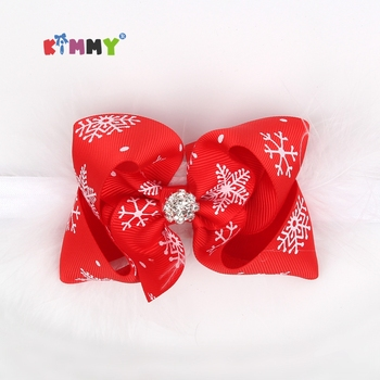 High Quality Fashion Christmas Elastic Cute Kids Bow Headbands - Buy christmas headband