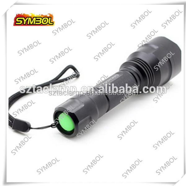 Shenzhen Convoy C8 flashlight rechargeable hunting torch light led hunting flashlight
