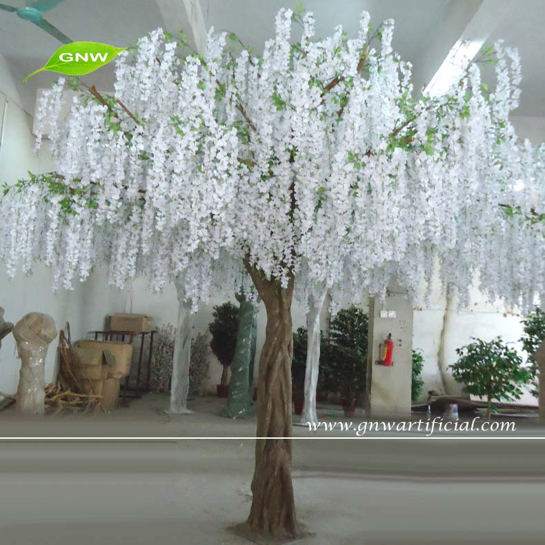 Gnw bls080 4m tall hand made artificial wisteria tree for Artificial trees for decoration