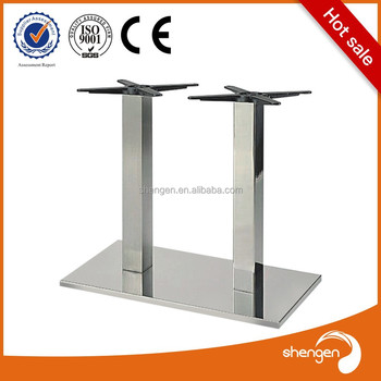 Furniture Manufacturers Strong Double Pipe Stainless Steel Decorative Metal  Dining Table Bases